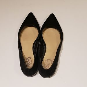 Circus by Sam Edelman Black Suade Pointed Flats